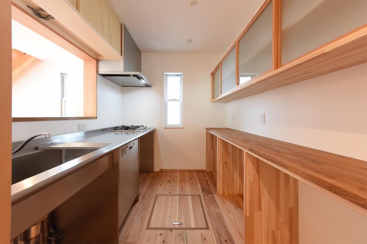 横キッチン